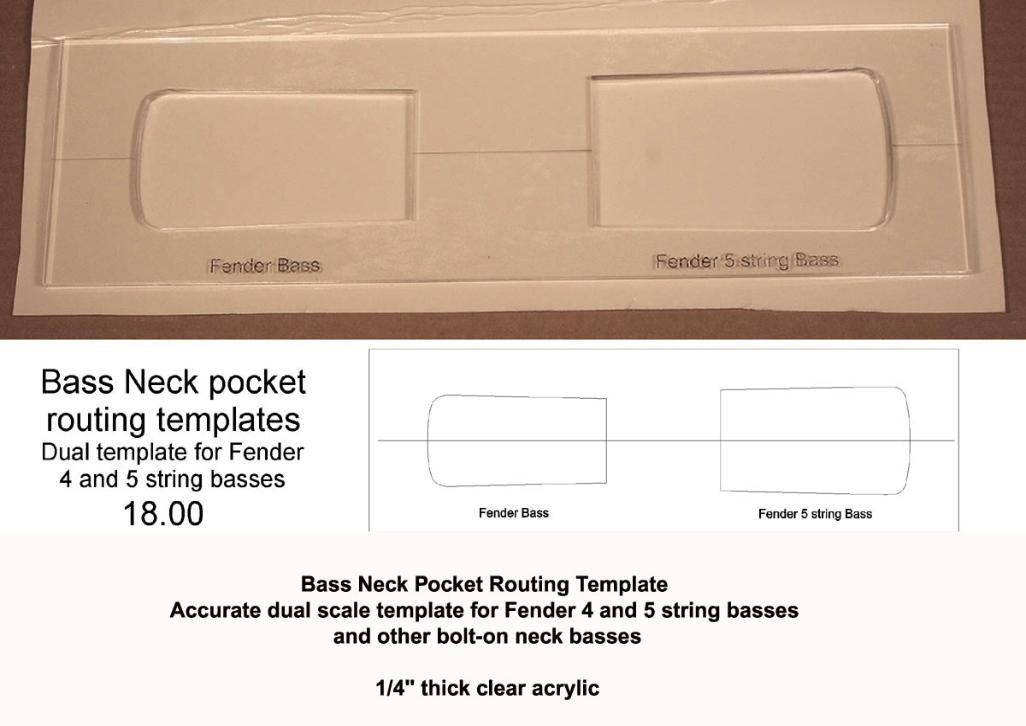 5 String Neck Pocket Template Talkbass