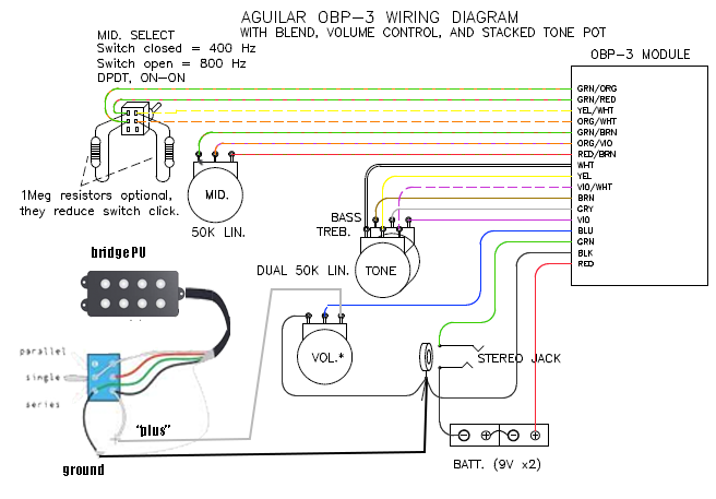 Wiring Nordstrand MM to Aguilar OBP3 | TalkB.com on