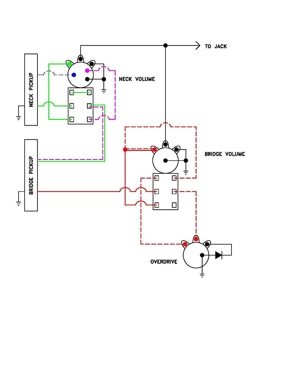 passive overdrive circuit wiring diagram for j talkbass
