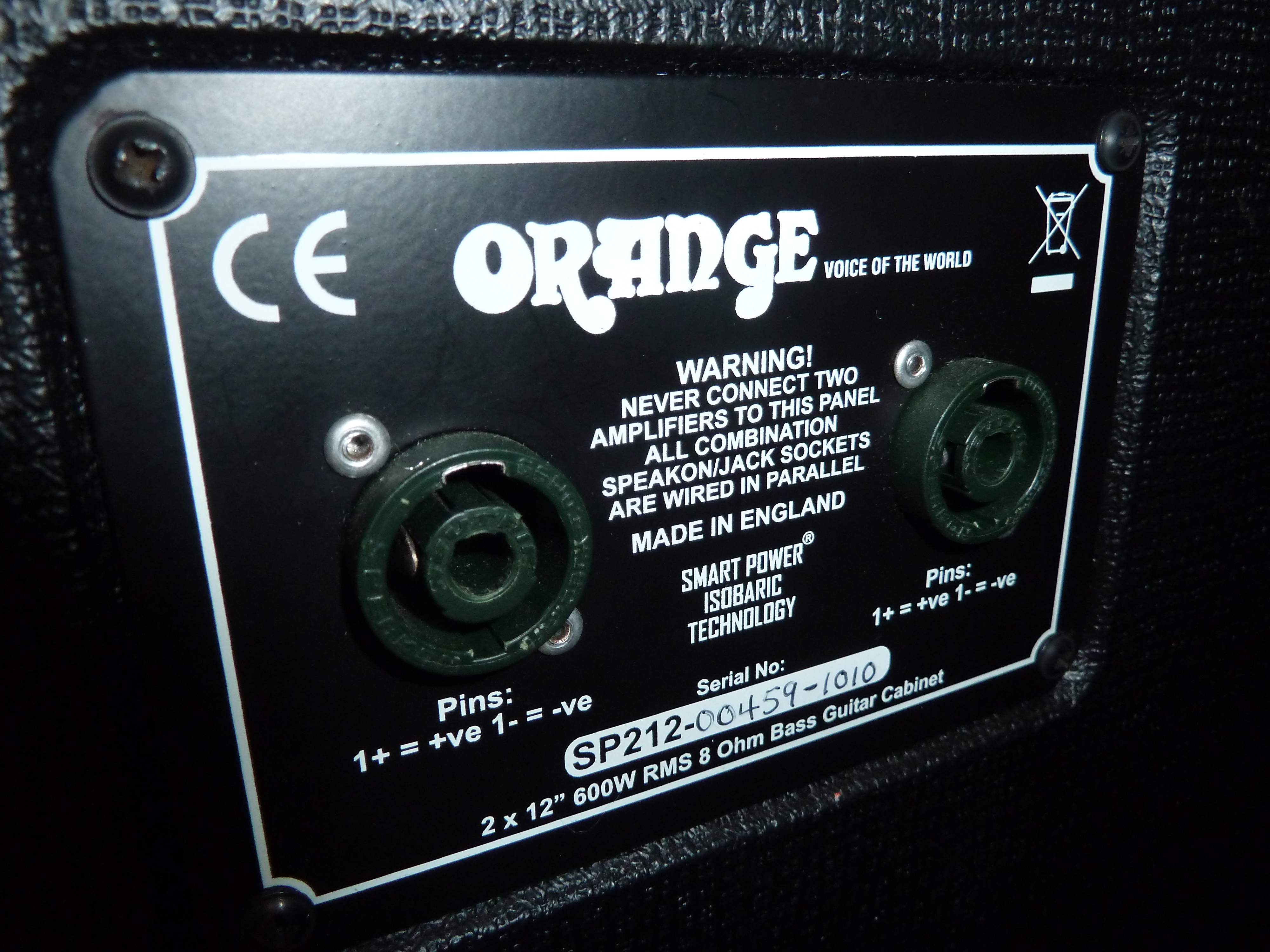 No Longer Available Orange Terror Bass 1000 2 Sp212 Isobaric