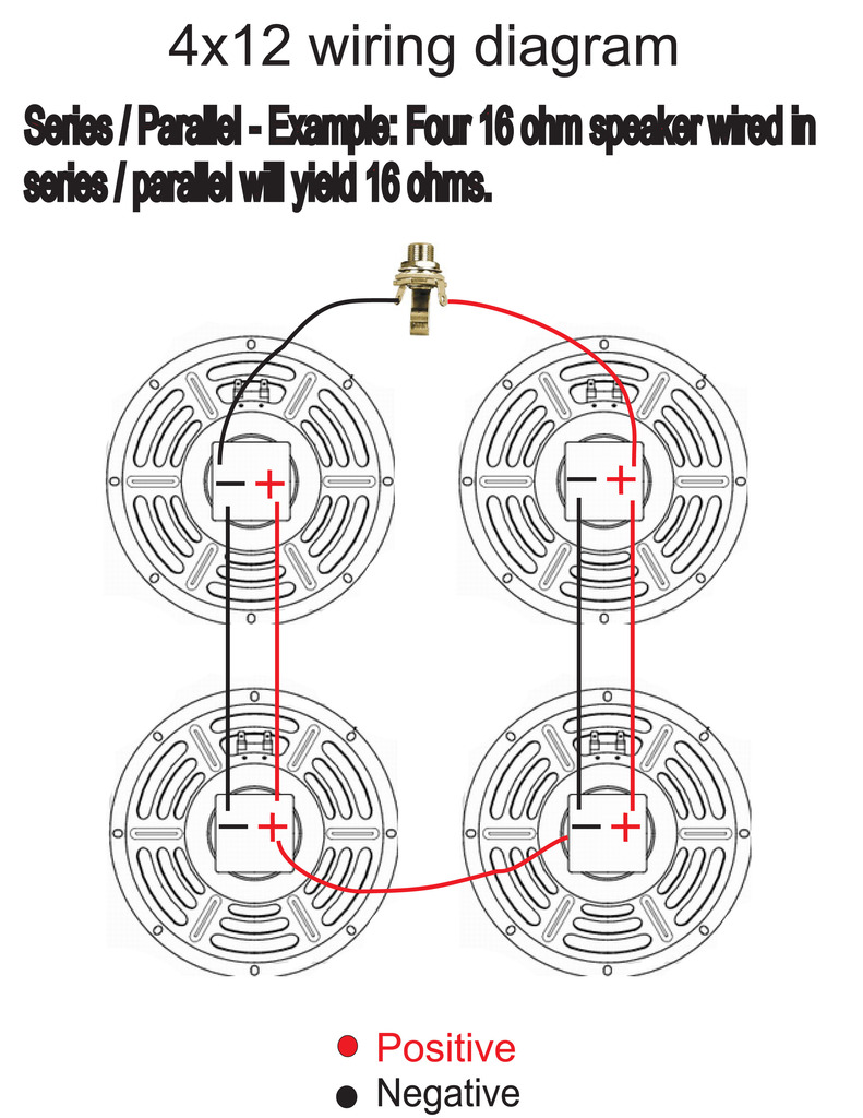 4 x 12 wiring ? page 2 talkbass com 2 8 ohm speakers in parallel doc] ➤ diagram 4x12 wiring diagram