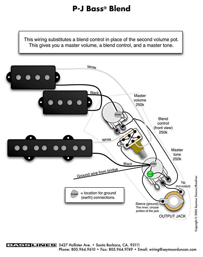 Vbt Wiring Diagram   Passive Fender Jazz Bass