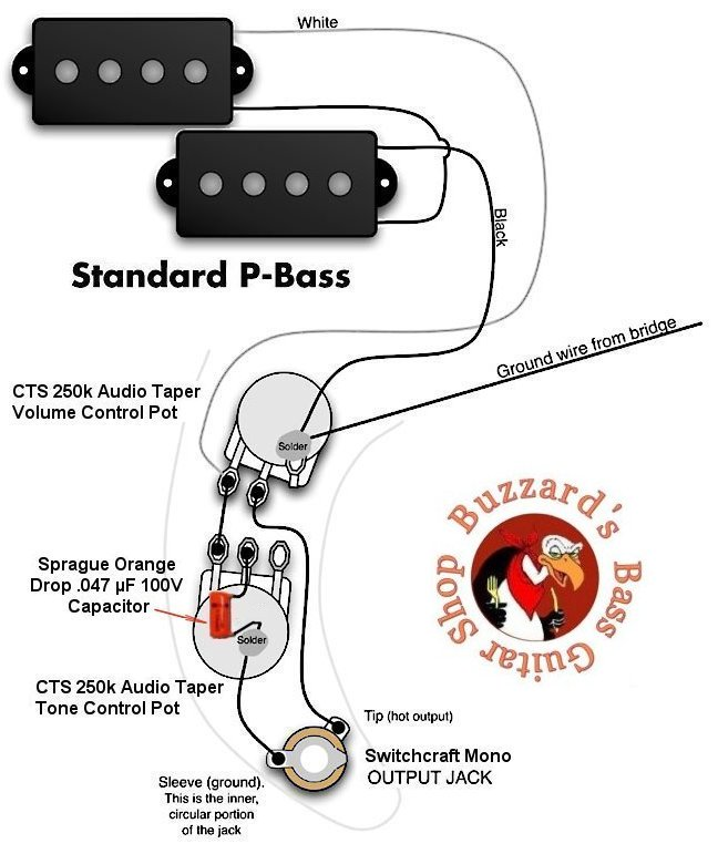 help diagnosing p bass pickup circuit | talkbass.com fender p bass wiring diagram