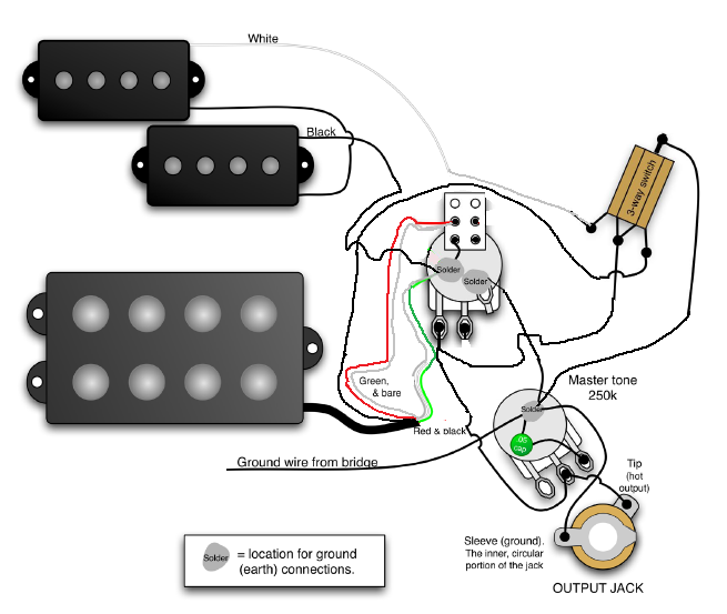 p bass musicman humbucker wiring diagram question