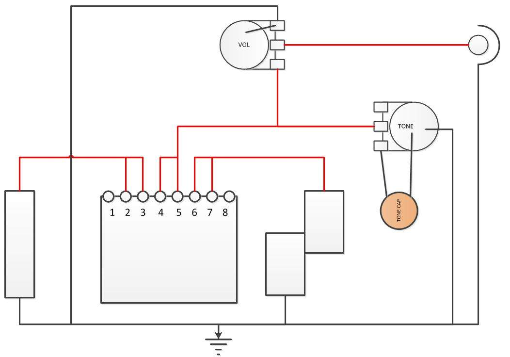 PJ b with 3 way switch (8 leads) 1 volume 1 tone pot ... Yamaha Atude Wiring Diagram on