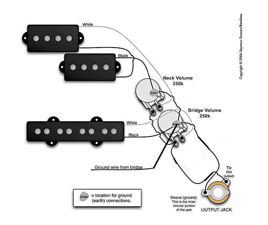 pj bass wiring vol vol no tone wiring check talkbass com 2 humbucker 2 volume no tone wiring diagram at creativeand.co