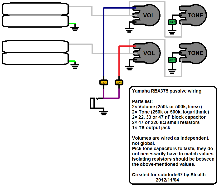 Yamaha B Wiring Diagrams - Wiring Diagrams on