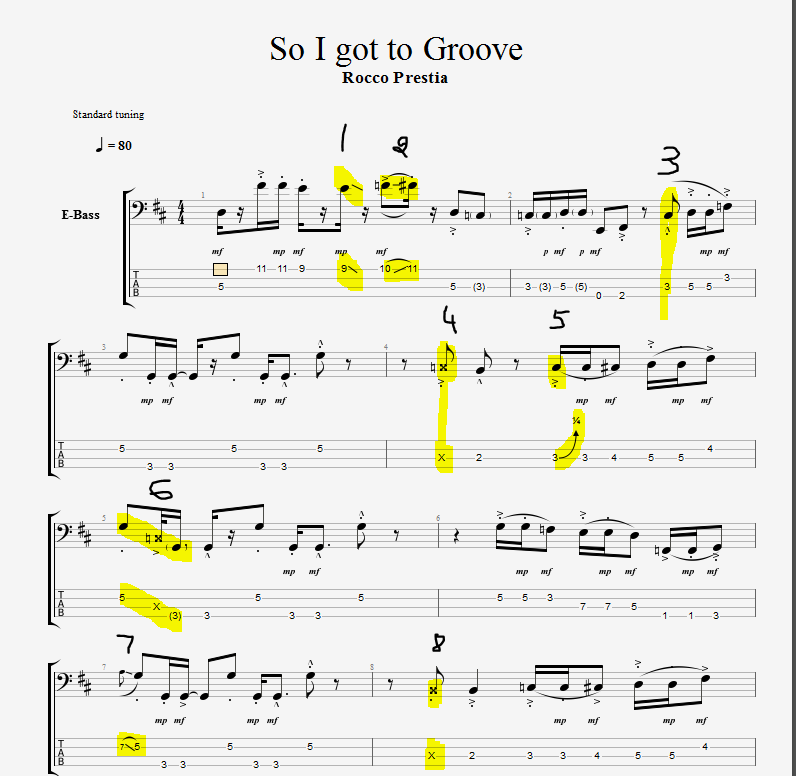 Tab Request: Tower of Power's So I Got to Groove    TalkBass com