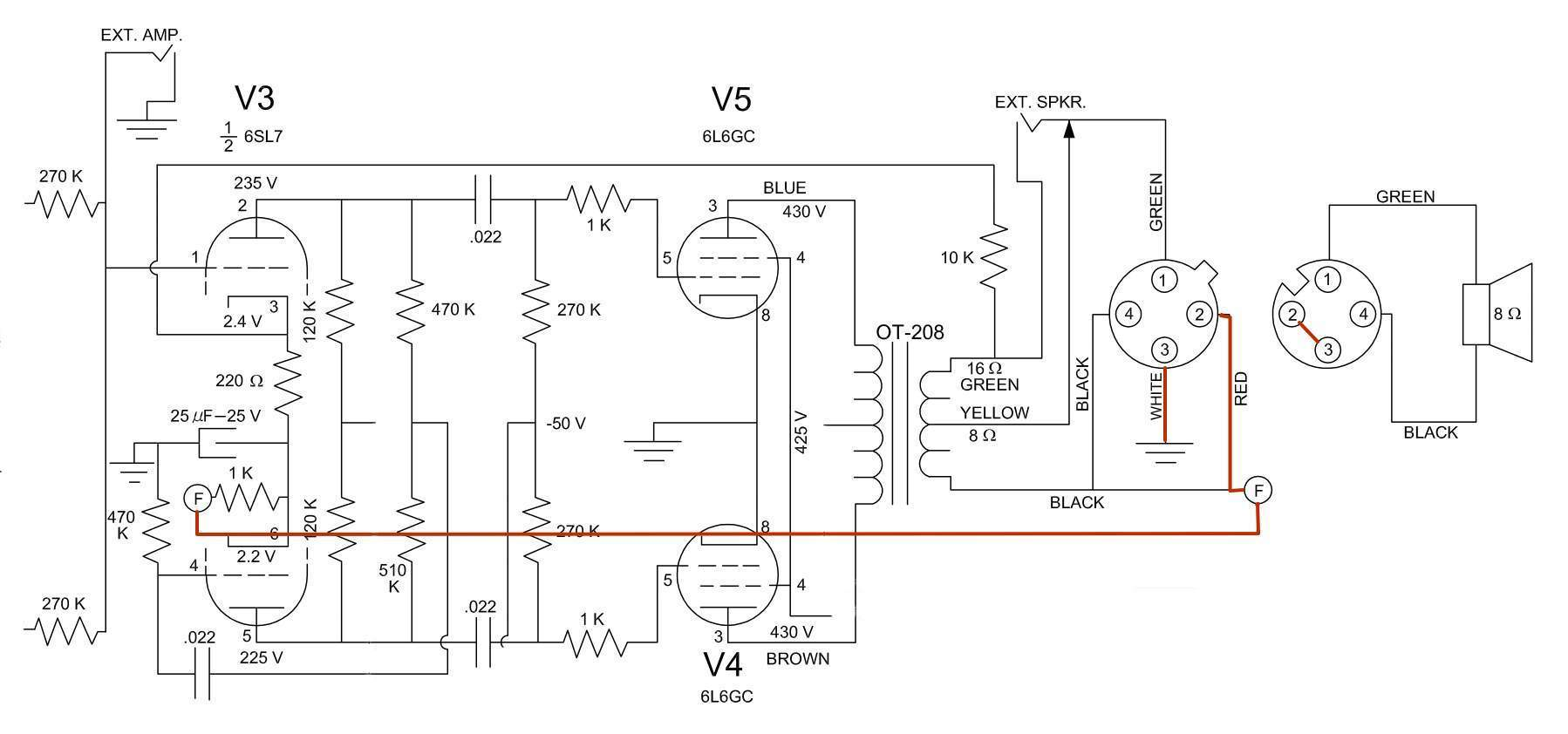 Technical Amplifier 10w 6l6 Push Pull Img