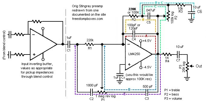Mystery Stingray Preamp schematic HELP! | TalkBass com
