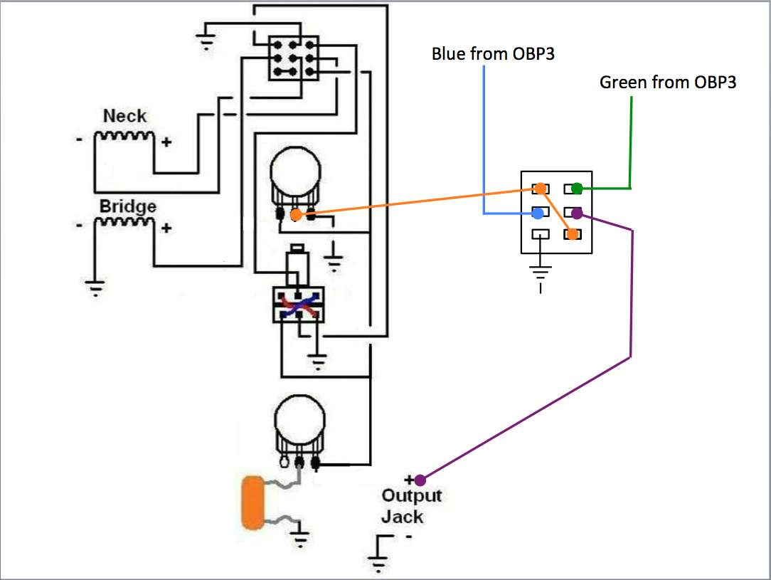 Wiring For Series Parallel With A Blend And An Obp3 Preamp