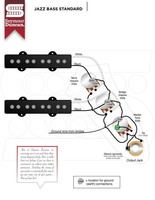 1965 fender jazz bass wiring talkbass com Harmony Bass Wire Diagram
