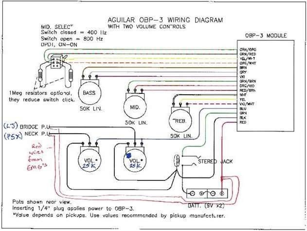 trying to hardwire emg pickups and aguilar pre talkbass com aguilar obp 3 preamp wiring diagram at fashall.co