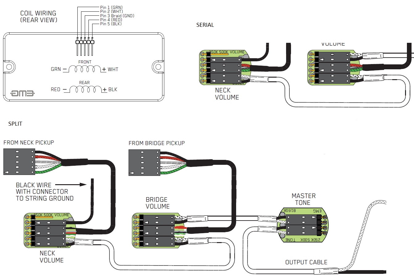 Split Connection on emg solderless wiring diagram