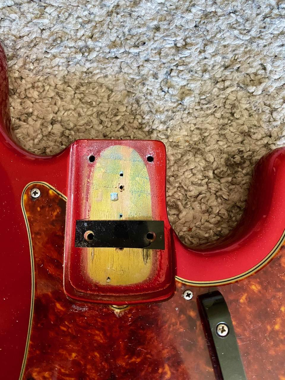 Stamp body 1965 Fender Precision Candy Apple Red - 2.jpeg