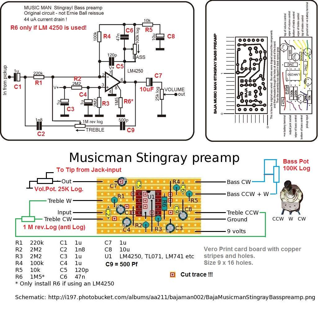 Diy Bass Preamp Schematic Poemsrom co