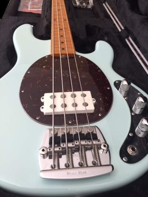 sold ernie ball music man classic stingray 4 with d tuner. Black Bedroom Furniture Sets. Home Design Ideas