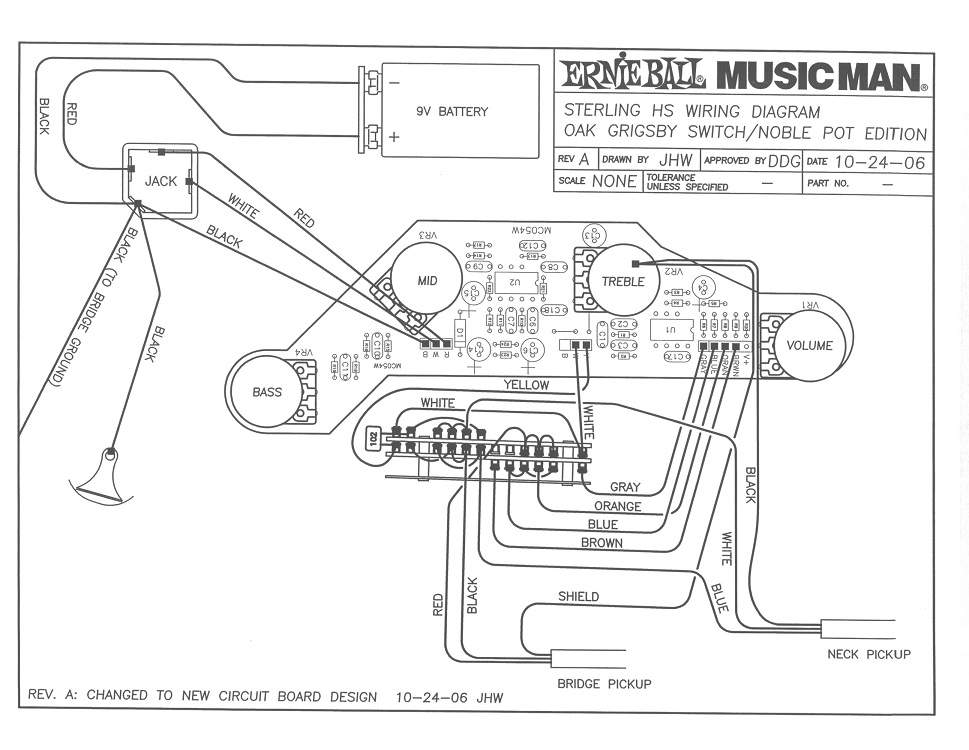 music man sound and pickups page 20 talkbass com the yellow white wires from switch to the preamp board are the two outputs of the switch one output per pickup the ground from the pickups are connected