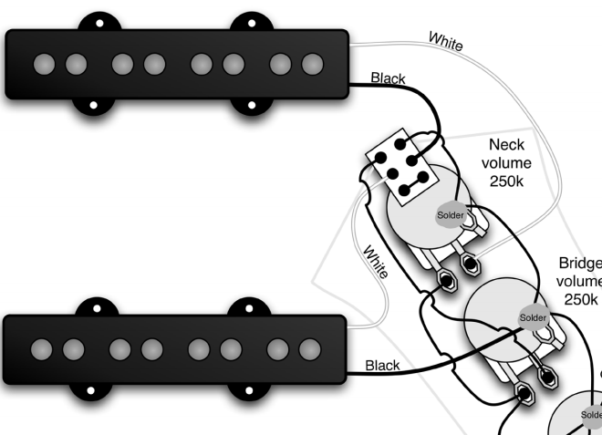jazz bass series switch wiring when my pickups are already ... jazz bass pickups wiring diagram