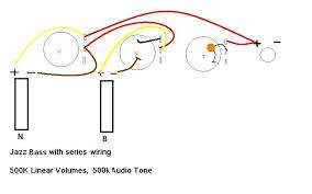jazz bass series wiring without a switch talkbass com Fat Strat Wiring Diagram