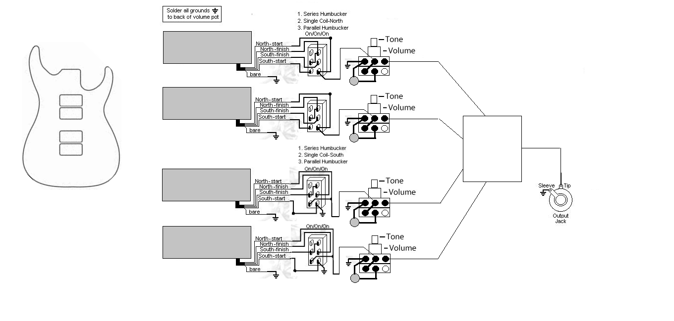 wiring a 6 position rotary switch talkbass com wiring diagram png