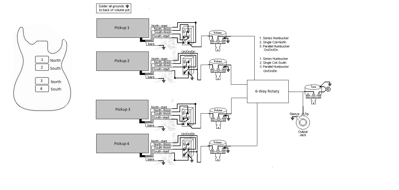 6 Way Wiring Diagram : Way rotary switch wiring diagram
