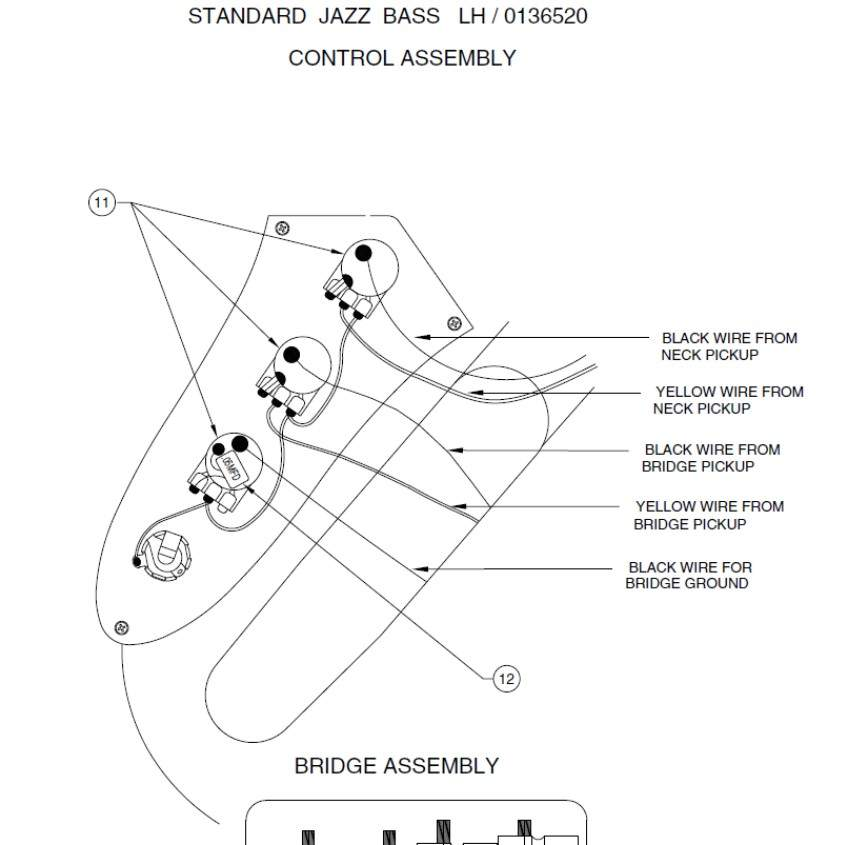 Problem with left handed Jazz bass wiring | TalkBass.com