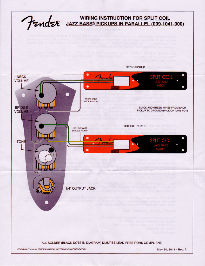 Fender Jazz Bass 24 Wiring Diagram Wiring Solutions